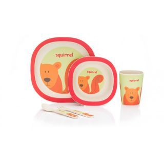 Set de masa 4 piese Bambus orange red Fillikid