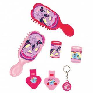 Set Jucarii Party (caleidoscop, fluier, perie, breloc) My Little Pony, Radar
