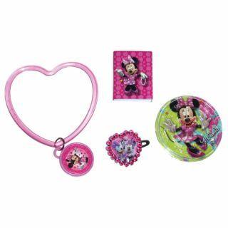 Set 24 piese party  (bratari, puzzle, carnetele, agrafe) Minnie Mouse, Amscan