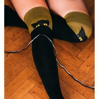 Sosete vesele Pisica - peste genunchi, marime L/XL, Radar