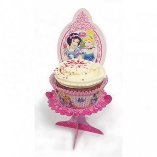 Suport cu Printese Disney pentru briose sau prajituri, Amscan