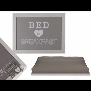 Tava mic dejun cu pernuta,  41 x 28 cm,1 bucata