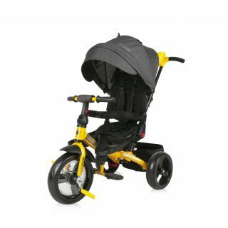 Tricicleta JAGUAR EVA Wheels, Black & Yellow