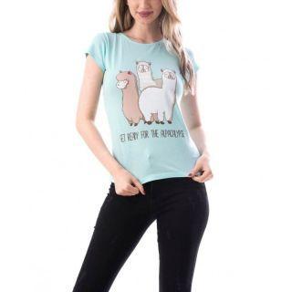 Tricou bumbac cu mesaj - Get Ready Alpaca, diverse marimi, Radar